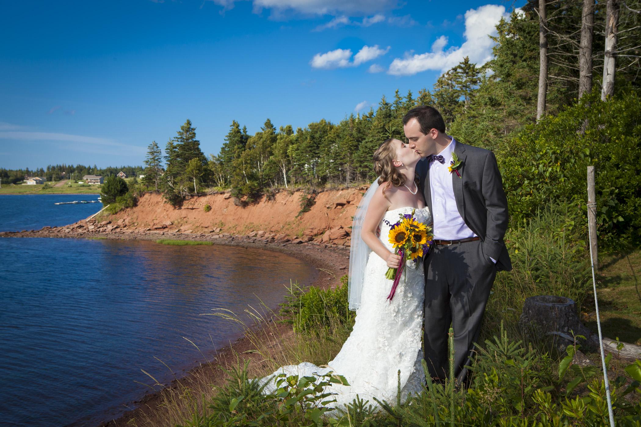 Prince Edward Island Photo of Bride and Groom taken by PEI Wedding Photographer