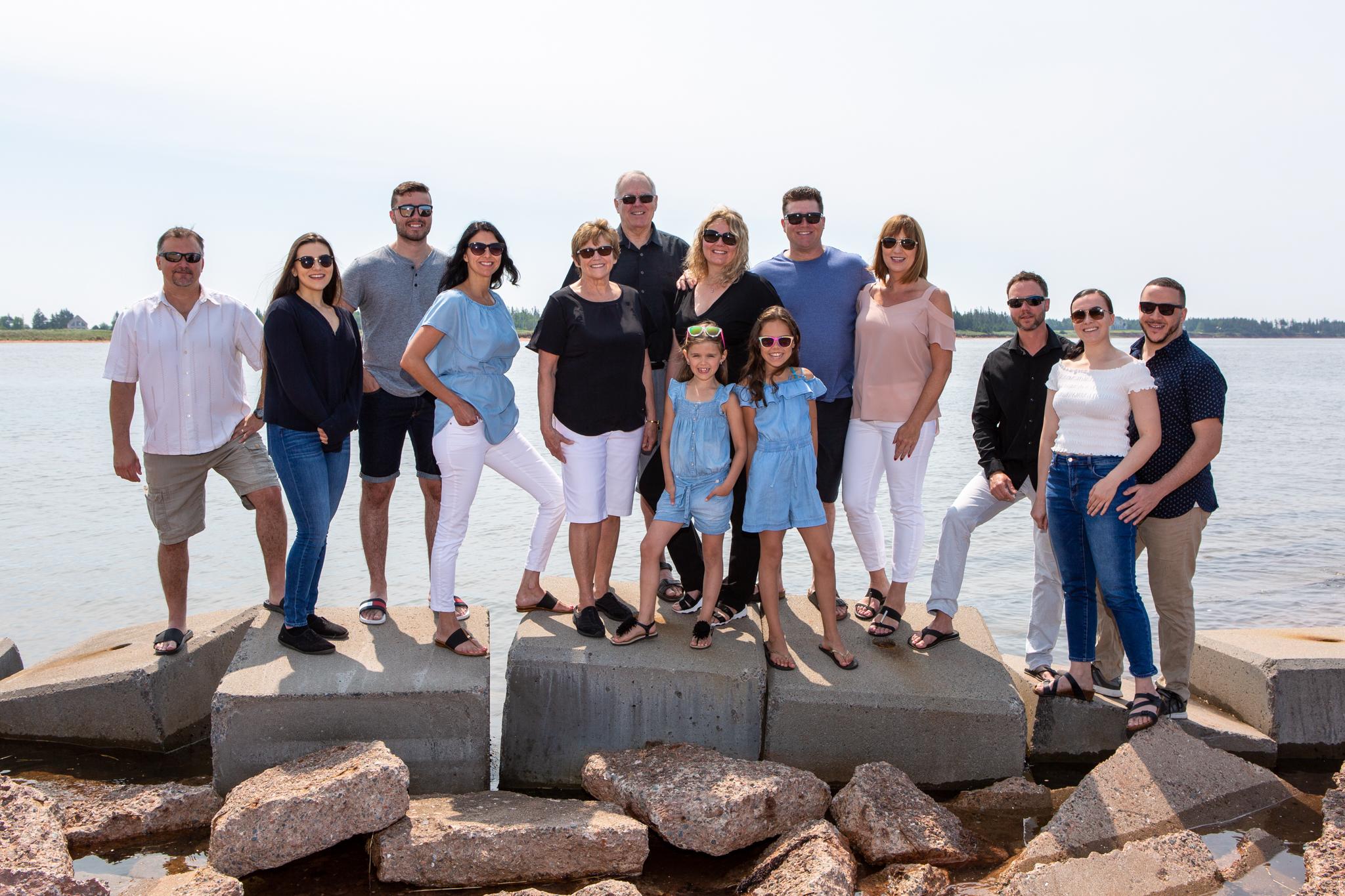 family photos in PEI waterfront