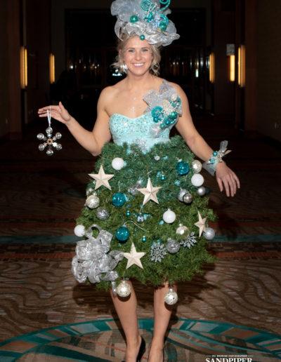 Christmas Tree Dress Fashion Show 3