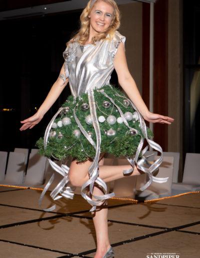 Christmas Tree Dress Fashion Show 30