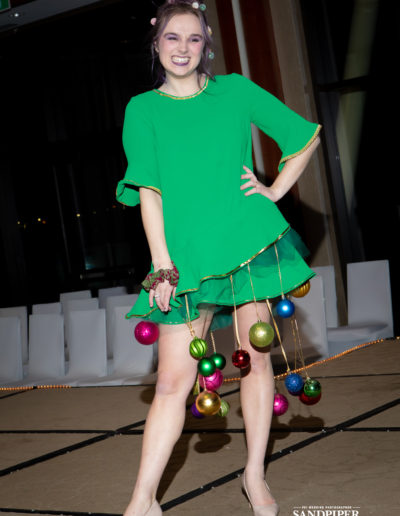 Christmas Tree Dress Fashion Show 31