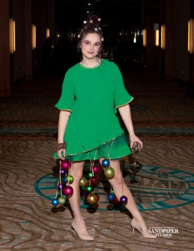 Christmas Tree Dress Fashion Show 6