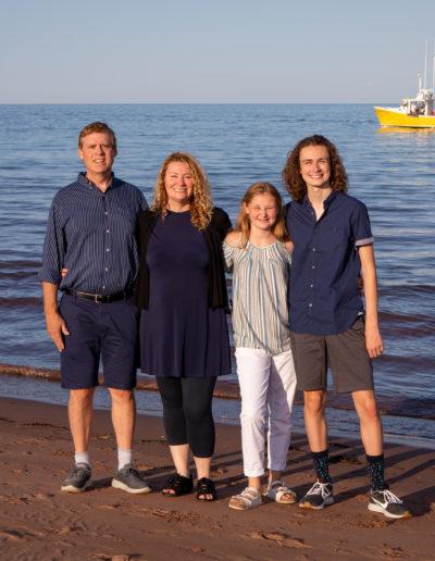 family portraits on PEI beach